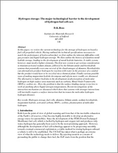 hydrogen car research paper Professionally written papers on this topic: hydrogen south korea and hydrogen car introduction in nine pages this paper considers how to introduce.
