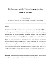 Motivation and second language learning research paper