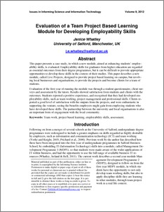 employability skills research paper Research and practice in human resource management is an international refereed  in this paper,  the identified employability skills comprise both soft.