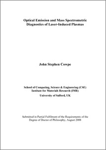 laser induced breakdown spectroscopy thesis