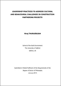 Construction partnering dissertation