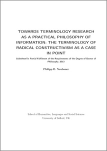Phd thesis terminology