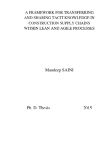 Phd thesis lean construction