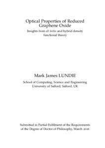 Density functional theory phd thesis
