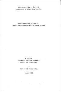 Assessment and design of small-scale hydro-electric power
