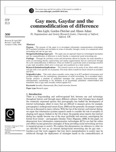 events and interactions offered by Gaydar