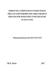 Improving competition within Public Private Partnership (PPP
